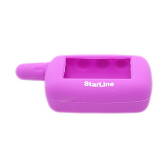 Силиконовый чехол на StarLine A4/A6/A8/A9/V5/24v (фиолетовый)
