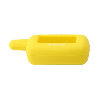 Силиконовый чехол на StarLine A4/A6/A8/A9/V5/24v (жёлтый)
