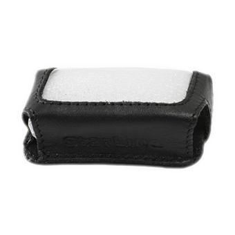 Силиконовый чехол на StarLine E60/E61/E90/E91 (чёрный, кожа)