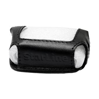 Кожанный чехол на StarLine B6/B9/A61/A91 (чёрный, кожа)