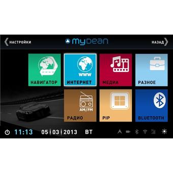 Штатная магнитола MyDean 3236