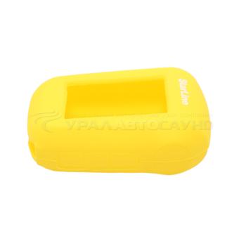 Силиконовый чехол на StarLine A62/A64/A92/A94 (жёлтый)