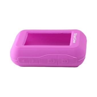 Силиконовый чехол на StarLine E60/E61/E90/E91 (фиолетовый)