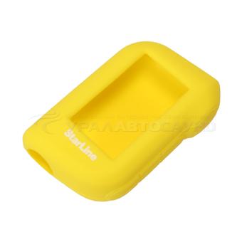 Силиконовый чехол на StarLine A63/A93 (жёлтый)